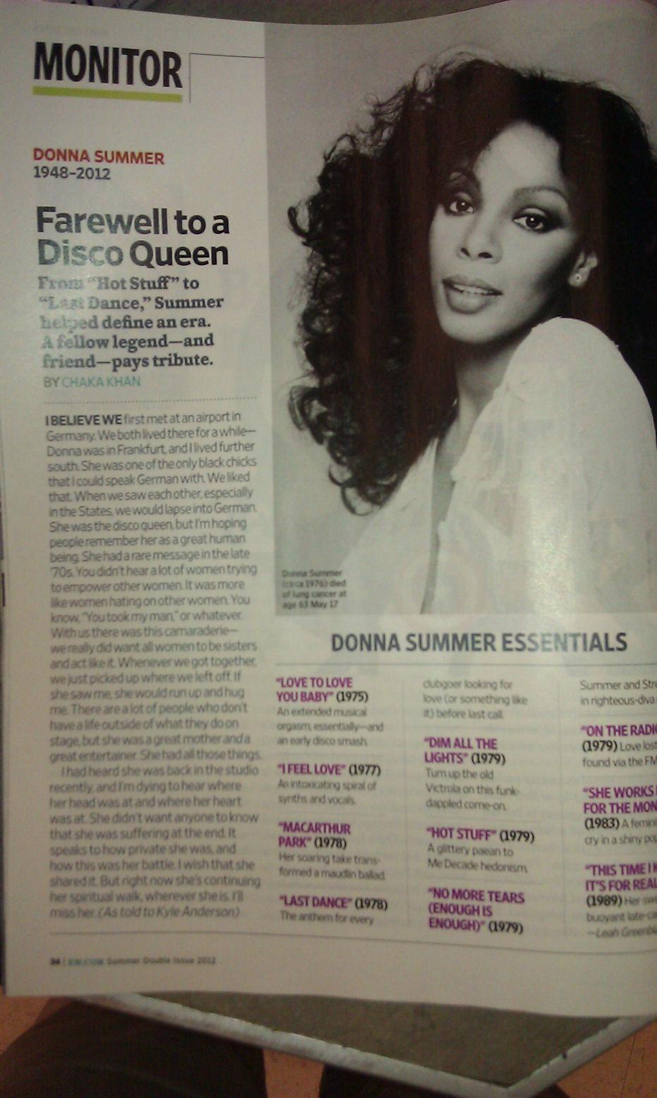 Donna Summer Memorial
